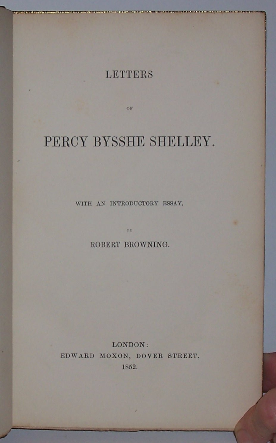 robert browning essay on shelley Professor emeritus of english, bishop's university editor of selections from swinburne (1945) and author of the infinite moment and other essays in robert browning (1950) 1 thomas j hookham, jr, was a personal friend of shelley and his family as well as having constant business connections.