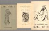 Carl Hofer [d.i. Karl Hofer]. Mit 48 Abbildungen auf Tafeln. 1 Farbild und 1 Umschlagzeichnung. Vorwort von Adolf Jannasch. Dazu eine Beigabe.